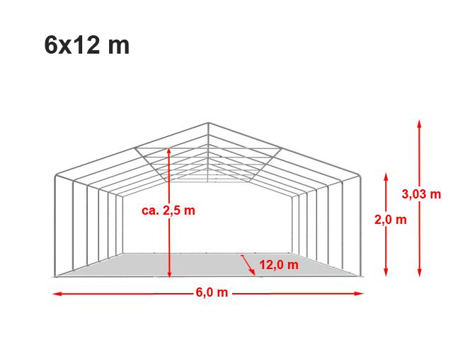 Párty stan Prémium 6x12m