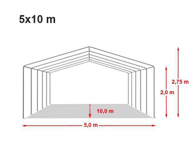 Párty stan ECONOMY 5x10m