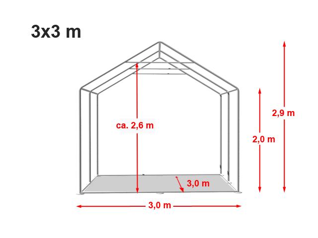 Párty stan Prémium 3x3m