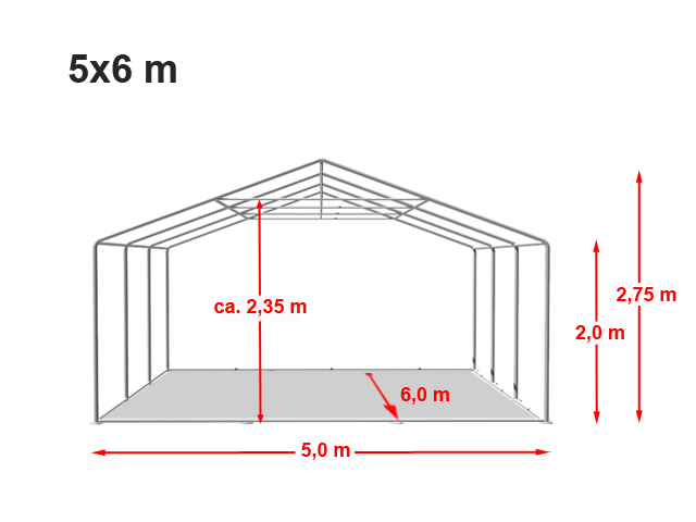 Párty stan Prémium 5x6m
