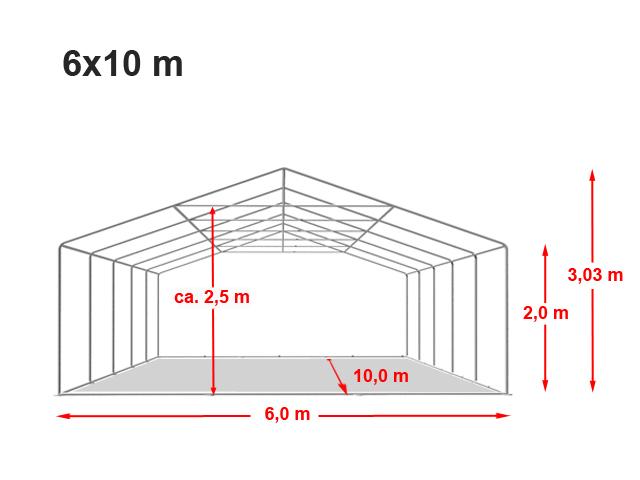 Párty stan Prémium 6x10m