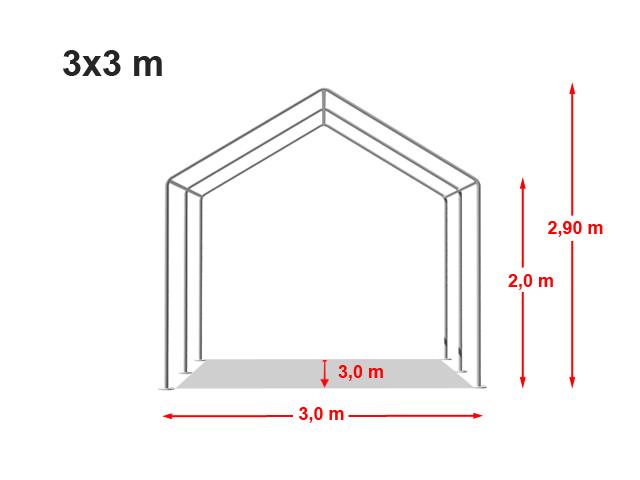 Párty stan Classic plus 3x3m