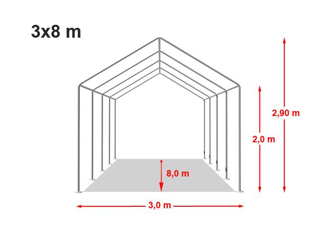 Párty stan Classic plus 3x8m