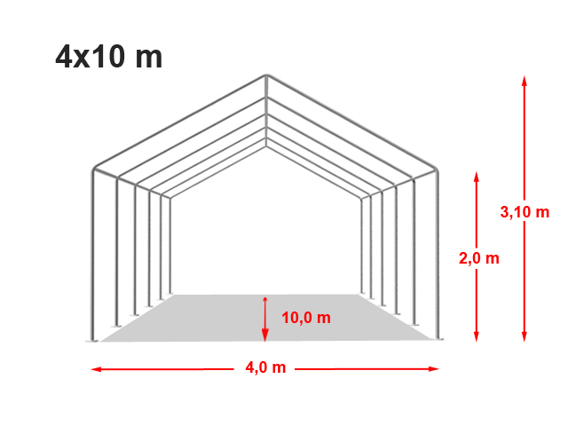 Párty stan Classic plus 4x10m